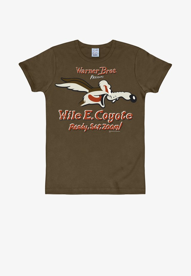 COYOTE LOONEY TUNES - Print T-shirt - braun