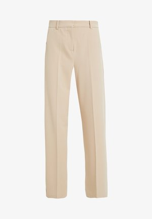BYDANTA WIDE LEG PANTS - Trousers - beige