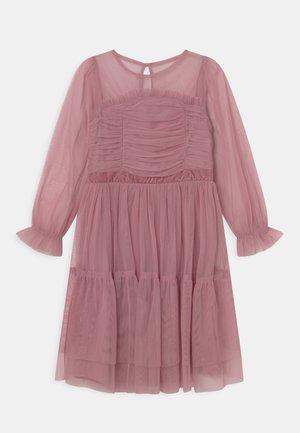 LONG SLEEVE RUFFLE DRESS - Cocktailjurk - aurora pink
