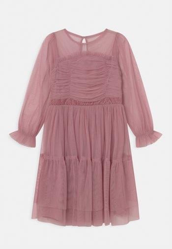 LONG SLEEVE RUFFLE DRESS - Cocktail dress / Party dress - aurora pink