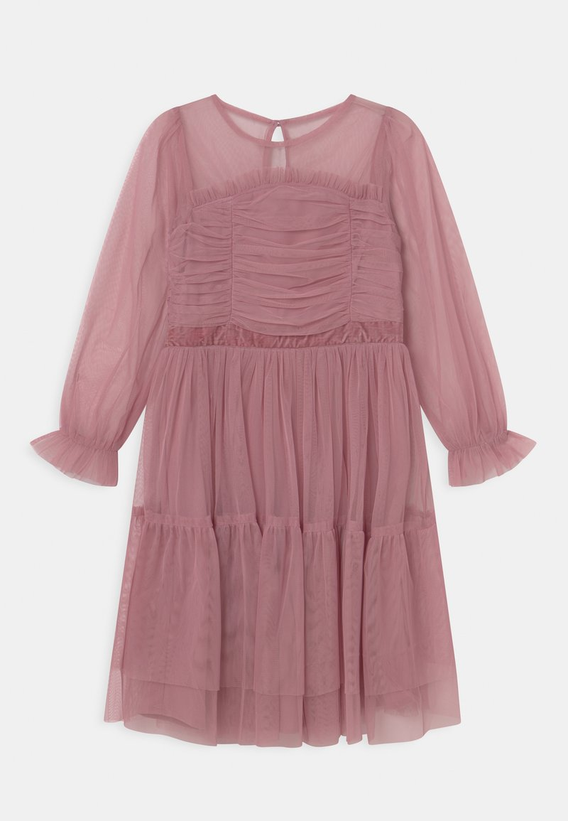 Anaya with love - LONG SLEEVE RUFFLE DRESS - Cocktail dress / Party dress - aurora pink
