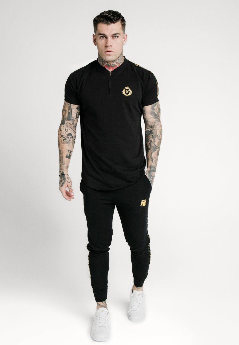 SIKSILK - BASEBALL - T-shirt z nadrukiem - black