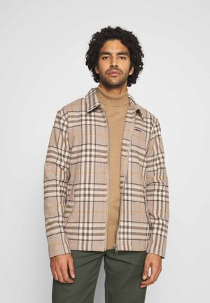 PLUCKED CHECK OVER  - Summer jacket - sand