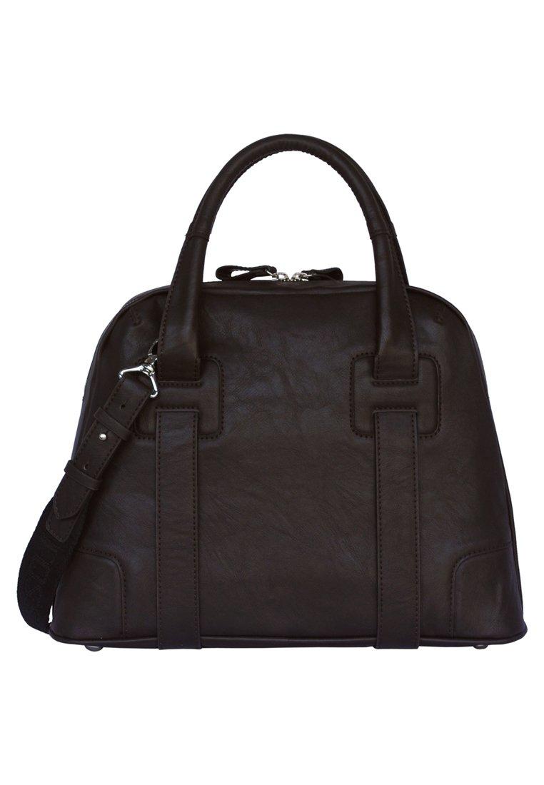 Silvio Tossi Handtasche - Dark Brown/schwarz
