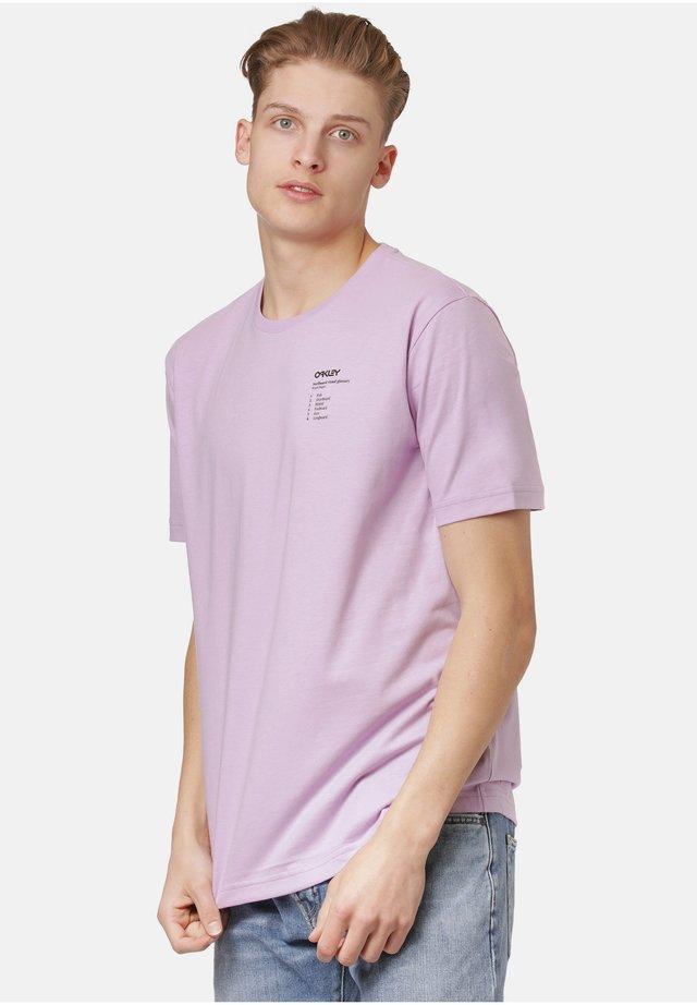 SURFBOARD TYPES - T-shirt print - dusty lavender