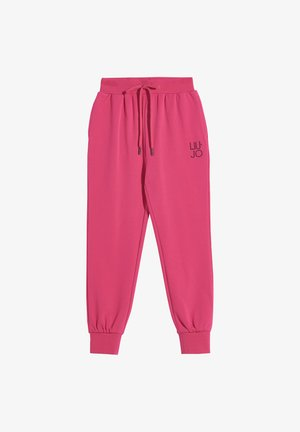 SLIM FIT PLUSH  - Tracksuit bottoms - pink