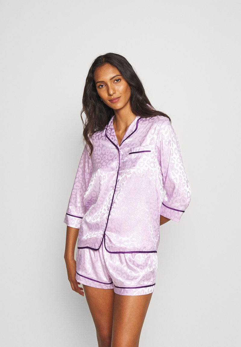 Wolf & Whistle - TRACY SLEEP SHIRT SHORT SLEEVED SHORTS  - Pyjamas - lilac