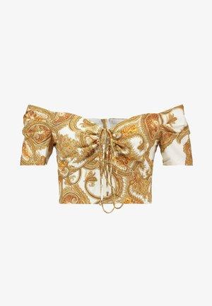 RING DETAIL CROP - Blouse - gold