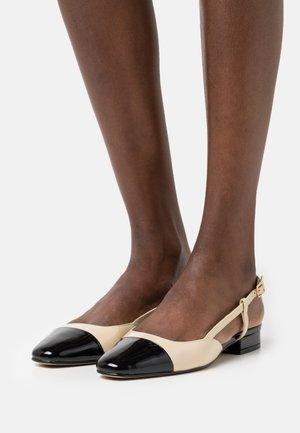 DHAPOU - Slingback ballet pumps - noir/beige