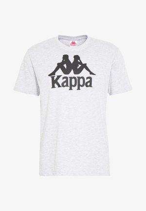 CASPAR - Print T-shirt - high rise melange