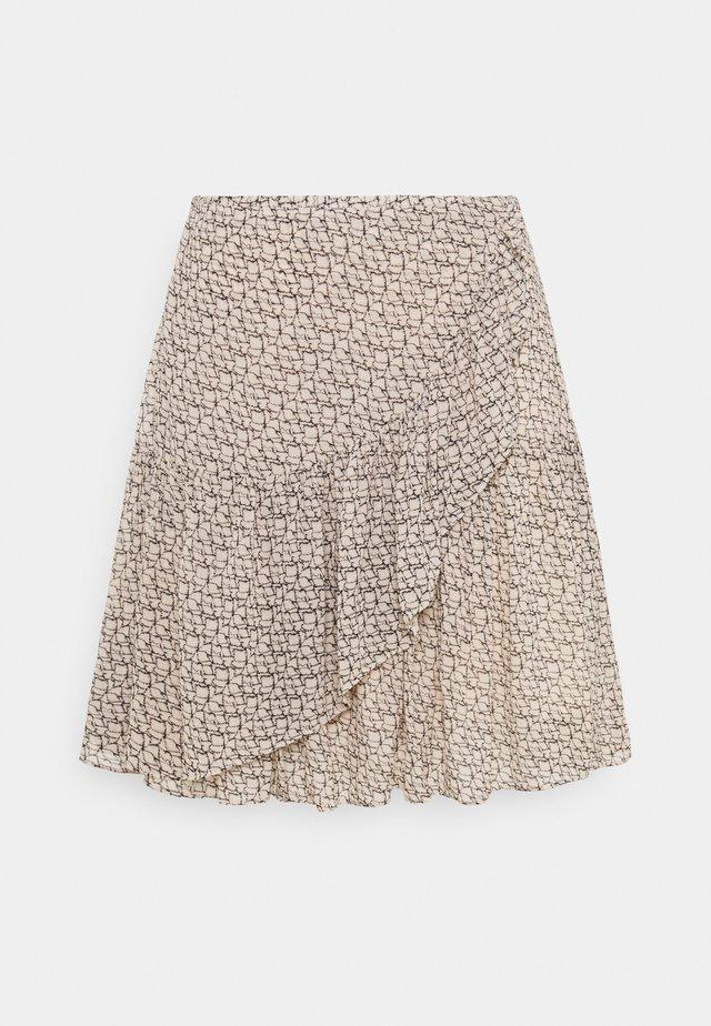 LACING SKIRT - Wrap skirt - cement