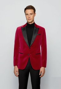 BOSS - HELWARD4 - Blazer jacket - dark red - 0