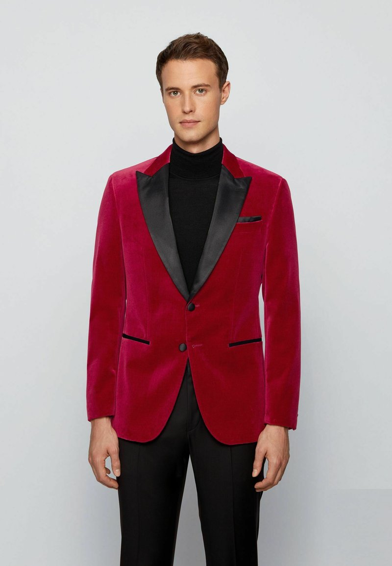 BOSS - HELWARD4 - Blazer jacket - dark red