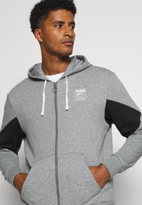 Puma - REBEL HOODIE  - Zip-up sweatshirt - medium gray heather - 3