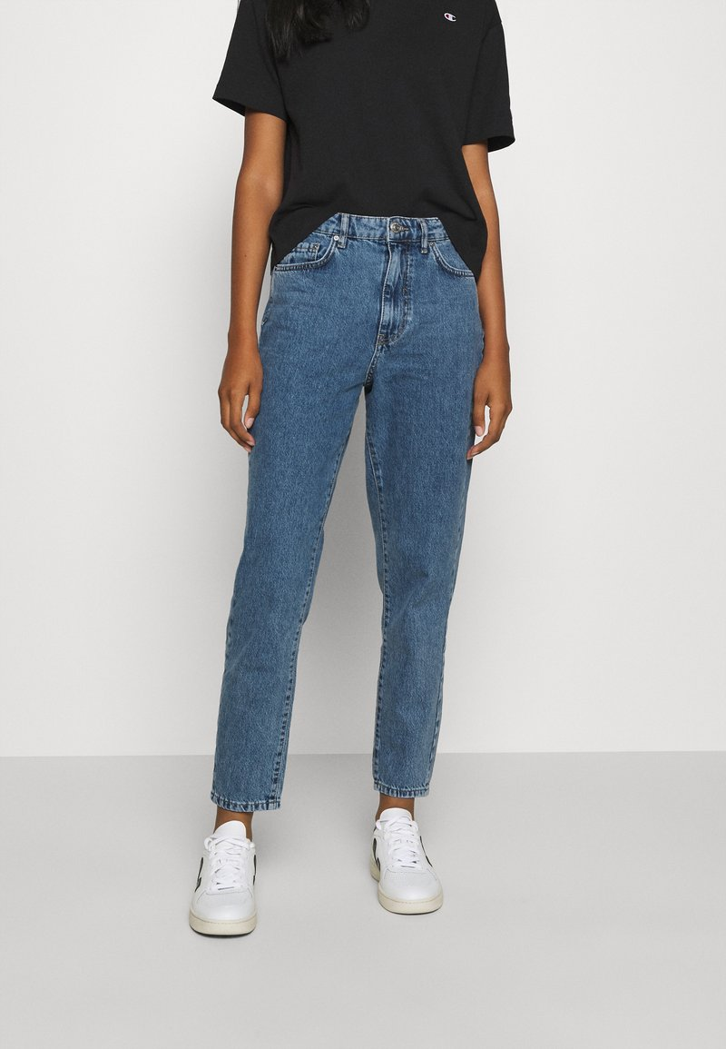 Gina Tricot - DAGNY HIGHWAIST - Jeans Tapered Fit - mid blue