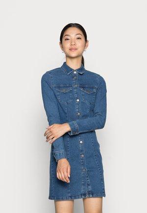 VMHAVANNA STITCH SHORT DRESS  - Denim dress - medium blue denim