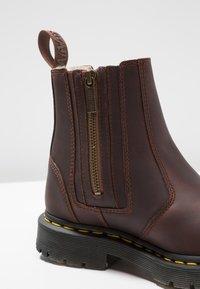 Dr. Martens - 2976 ALYSON ZIPS SNOWPLOW - Classic ankle boots - dark brown - 2