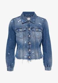 DESTROYED - Džínová bunda - medium blue denim