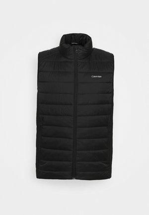 ESSENTIAL SIDE LOGO VEST - Waistcoat - black