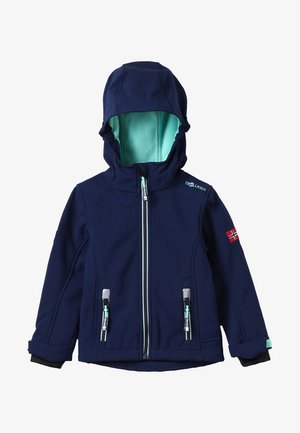 GIRLS TROLLFJORD JACKET - Softshellová bunda - navy/mint
