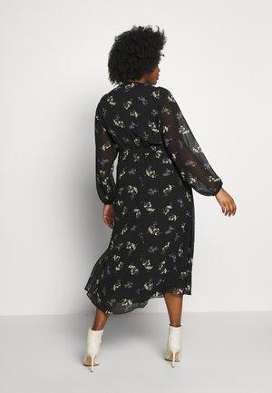 DRESS GENTLE FLORAL - Košilové šaty - black