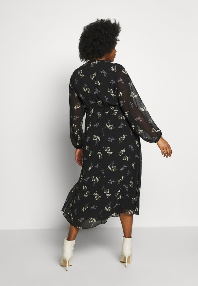 DRESS GENTLE FLORAL - Sukienka koszulowa - black