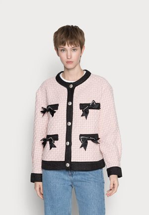 SECRET GARDEN TWEED CARDIGAN - Cardigan - pink