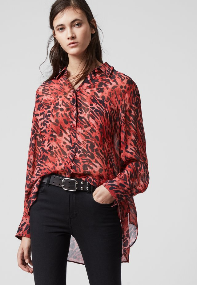 BERNIE AMBIENT - Button-down blouse - red