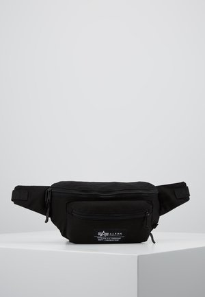 BIG WAIST BAG - Ledvinka - black