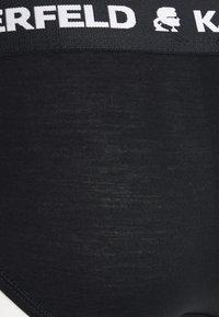 KARL LAGERFELD - LOGO HIPSTER 2 PACK - Briefs - black - 5