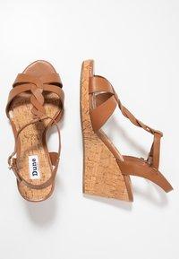 Dune London WIDE FIT - WIDE FIT KOALA - Platform sandals - tan - 3