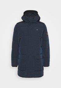CRINKLE LONG LENGTH JACKET - Winter coat - blue