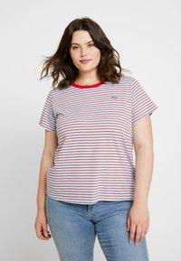 Levi's® Plus - PERFECT CREW - Print T-shirt - koronis baltic sea - 0