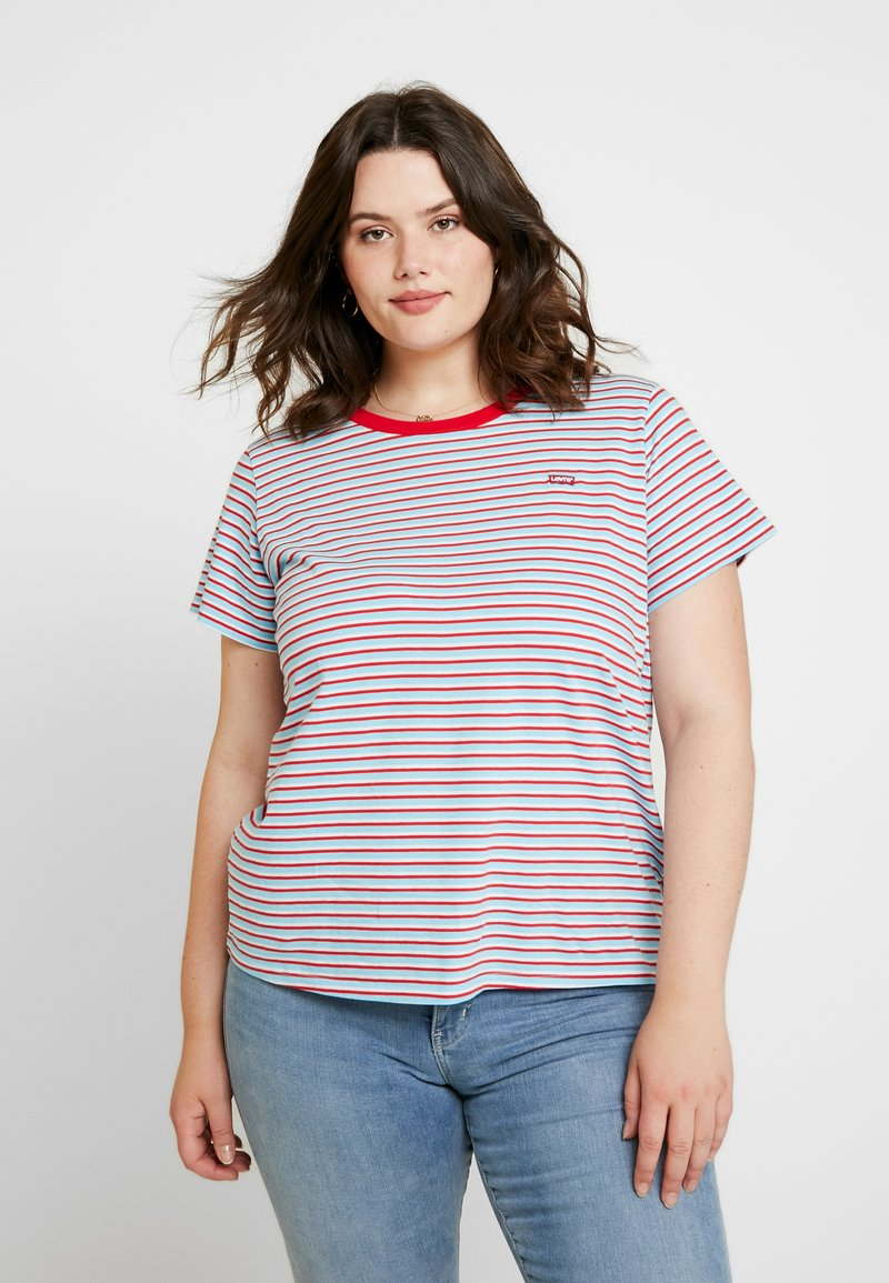 Levi's® Plus - PERFECT CREW - Print T-shirt - koronis baltic sea