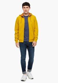 s.Oliver - LANGARM - Zip-up sweatshirt - yellow - 1