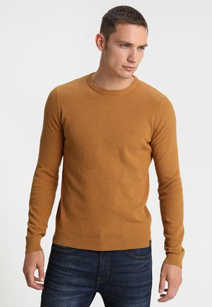 Strickpullover - mottled dark yellow