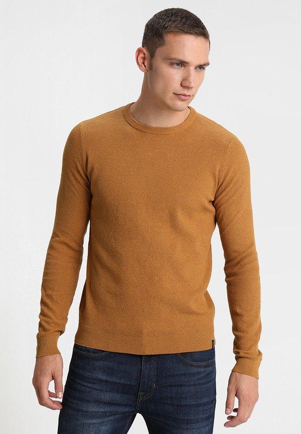 Pier One Sweter - mottled dark yellow/ciemnożÓłty melanż Odzież Męska HNHX