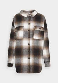 Noisy May - NMFLANNY CHECK  - Button-down blouse - birch/brown sugar/dark brown/black - 5