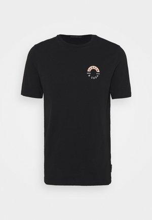 LOGO CHEST PRINTED CREWNECK TEE - Print T-shirt - black
