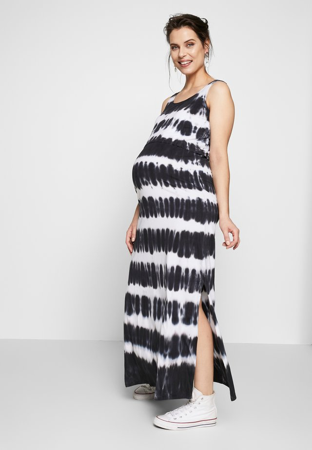 NURSING TIE DYE - Robe longue - black/white