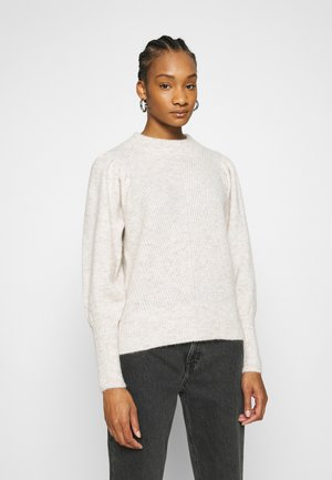 SLFLINNA NEW O NECK - Jumper - sandshell