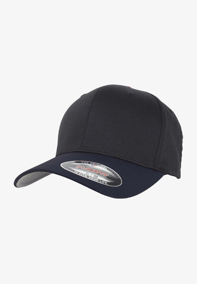 FLEXFIT WOOLY COMBED 2-TONE - Caps - blk/nvy