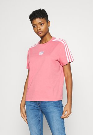 LOOSE FIT TEE - T-shirt z nadrukiem - hazy rose