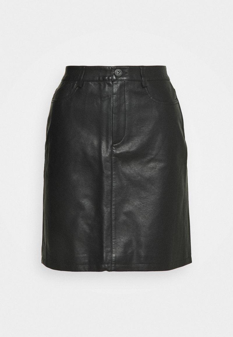 edc by Esprit - SKIRT - Spódnica skórzana - black