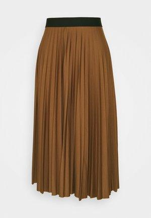 PLISEE SKIRT - Pleated skirt - toffee