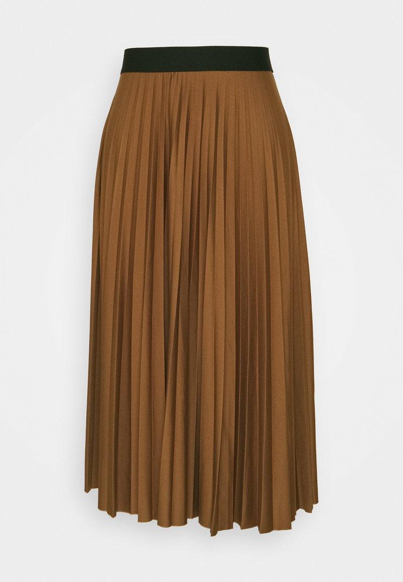Esprit - PLISEE SKIRT - Pleated skirt - toffee