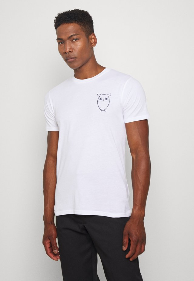WITH OWL CHEST LOGO  - T-shirt imprimé - white