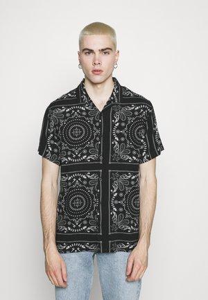 FENDER - Shirt - jet black/optic white/grey