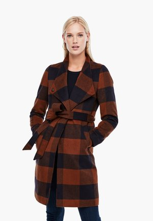 MANTEL MIT KLASSISCHEM KAROMUSTER - Classic coat - brown check