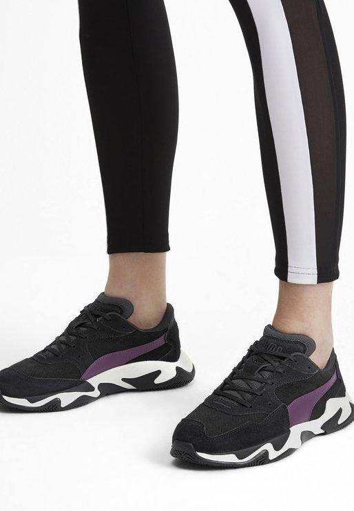 Puma - STORM STREET - Sneakers laag - black/plum purple